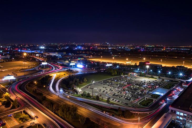 北京首都机场T1航站楼鸟瞰图